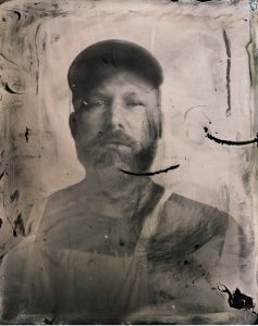 Wet plate collodion selfie