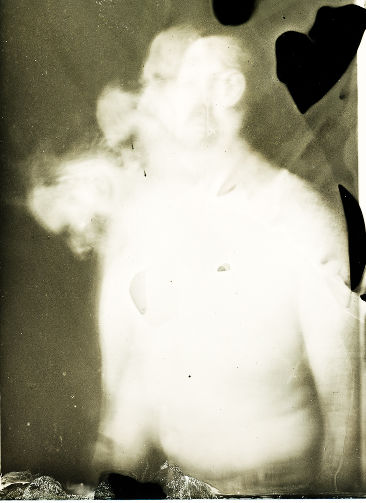 Wet plate collodion tintype of an attempted time traveller by Lucas James.